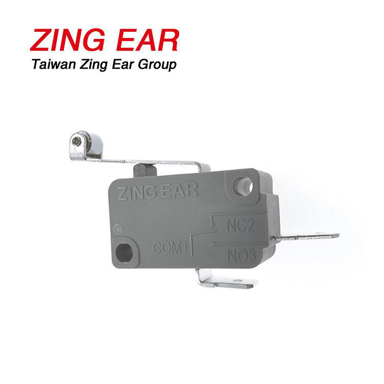 G5T16-D1P200A06 Zing Ear 25T125 Quick Connect SPST NO Long Roller Lever Mico Switch