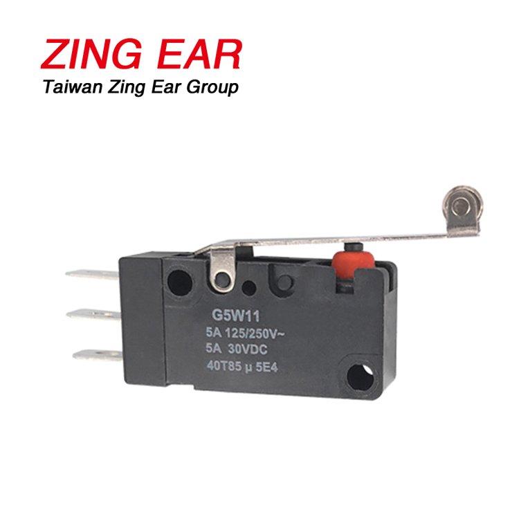 G5W11-EZ200A06-W2 SPDT Waterproof Micro Switch Roller Lever