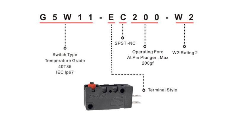 micro waterproof switch
