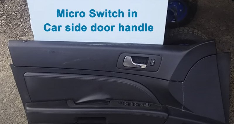 What does the micro switch in the car door do?