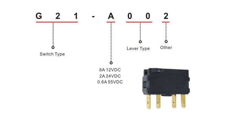 DPDT Bistable Micro Switch