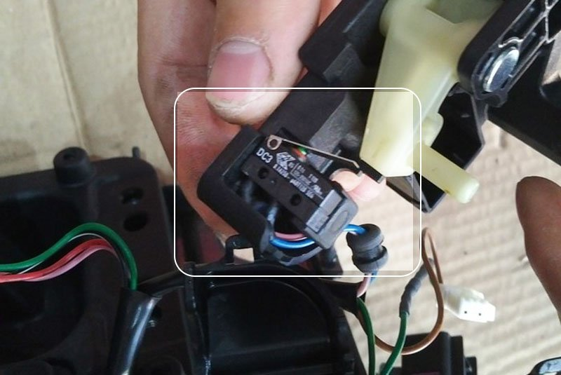 replace micro switch on shift lever