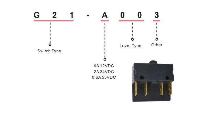 DPDT Microswitch