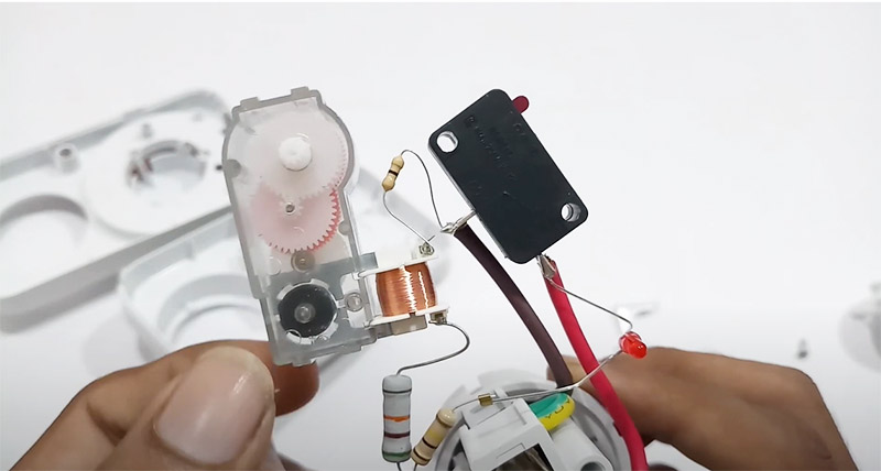 micro switch in the timer