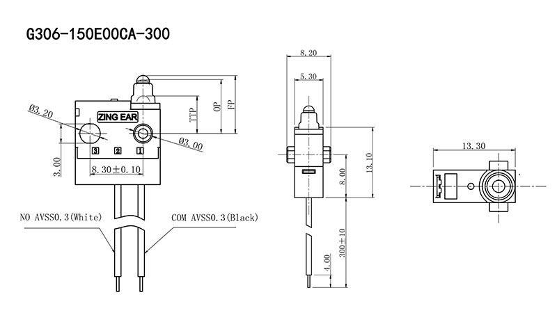 Subminiature Waterproof Sealed Automotive Micro Switch