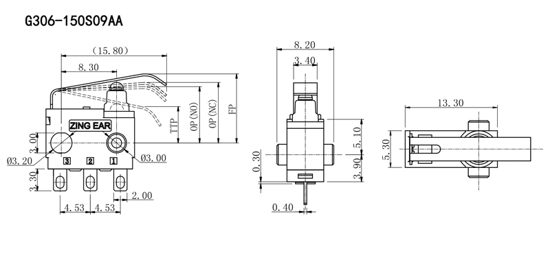 G306 car Micro Switch drawing