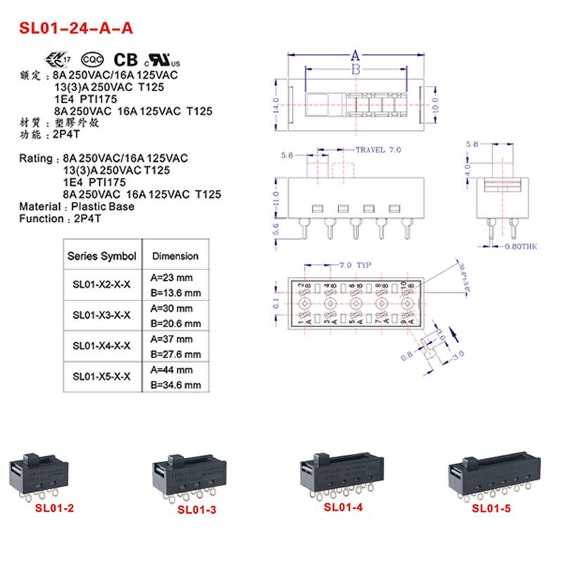Light Switch Slide Dimmer specification