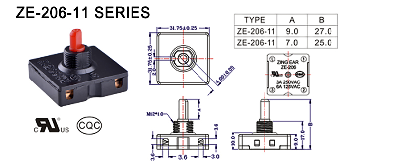 rotary selector switch drawing